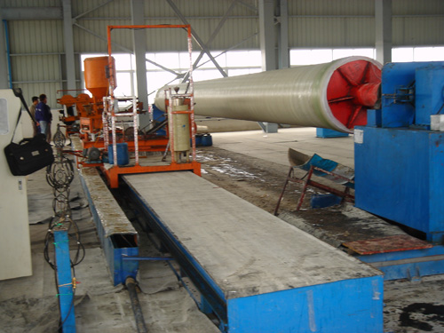 FRP pipe production line